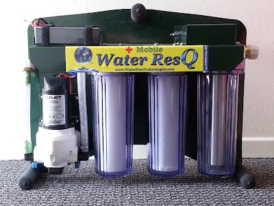 Hello Max,  I have attached a couple of pictures of the Mobile Water ResQ UV Purifier. If you have any questions please call me and I will send whatever you need over. I'm going to try to get you more detailed pictures showing the unit with all accessories either attached or sitting next to it.  John is trying to locate the test results and we will be having the units tested in the field by 2 labs located in Utah. Homeland Security has already done their own extensive  testing and purchased over 70 units in the past few weeks. For whatever reason, they will not give us copies of  the results.  Kind regards,  Tom  Email: tom@waterbluegold.com Ph: 801.839,9309 Water Pure Technologies, Inc. 444 White Pine Drive Murray, UT 84123   Specs on the Mobile Water ResQ UV Putification System  The Mobile Water ResQ UV system has been designed around the needs and requests of search and rescue personnel, survivalists, emergency first-responders and customers concerned with the safety and reliability of international and domestic water supplies.   For this reason, it incorporates our proven safety and convenience features making it perfect for field operations - a self-priming 12 volt pump, a switch panel allowing for the pump and lamp to be powered on/off independently,Quick release hose and power connections, 'alligator'-style power clips, a stainless steel sediment screen on the FDA-approved inlet hose to extend the life of system filters, easy to grip handles and a protective water- dust-proof case for quick system relocation.      Drawing under six amps of power, the Mobile Water ResQ system can produce nearly 180 gallons per hour. of safe, clean, virus free drinking water.  With the addition of an automotive/RV/marine battery or solar charging unit  providing the power, 10 hours of continuous use can produce enough safe water for 350+ people to survive for a week.   In a disaster or emergency situation, the needs of private individuals and families are not unlike those of emergency responders in the field.  It is for this reason that we designed the  Mobile Water ResQ-UV system to out-perform any other emergency water treatment system - at an affordable price.  Replacement filters and lamps are readily available and  inexpensive.      The Mobile Water ResQ-UV System.  Filters and  Purifies Water From All  Fresh Water Lakes, Ponds, Streams, Rivers, Swimming Pools, Etc.      4 Stage Water Purification System filters down to .5 micron, kills viruses!     2.9 Gallon Per Minute Flow Rate     Water Proof, Dust Proof Protective Case. Protective Case     12 V 7200 mAh Lithium Ion Rechargable Battery, Battery Charger, Battery Alarm and 6 ft Quick Connect Extension with Alligator Clips.     FDA-Approved Inlet & Outlet Hoses With FDA rated Fittings     Easy On-Off Switches For Independent UV Lamp/Pump Control     RInsable Screen Pre-filtration To Reduce Sediment Uptake     1 Micron, NSF-Certified, Sediment Pre-filtration, removes dirt and bacteria     .5 Micron, NSF & Water Quality Association Approved & Certified,  Activated     Carbon Block, Coconut Filter, removes chemicals and bacteria.     3 gallons per minute Stainless Steel Germicidal Ultraviolet     Lab Tested and Certified     Exceeds World Health Organization and EPA Requirements for Water Purification     Patent Pending Design